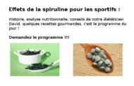 Effets spiruline : que du positif pour les sportifs ?