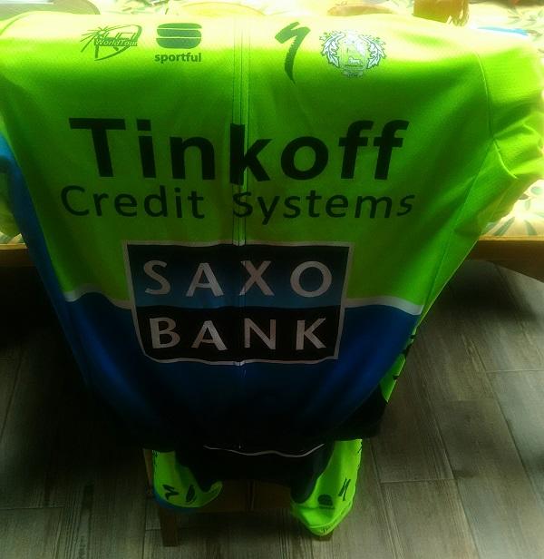 Test maillot de cyclisme Saxo Bank