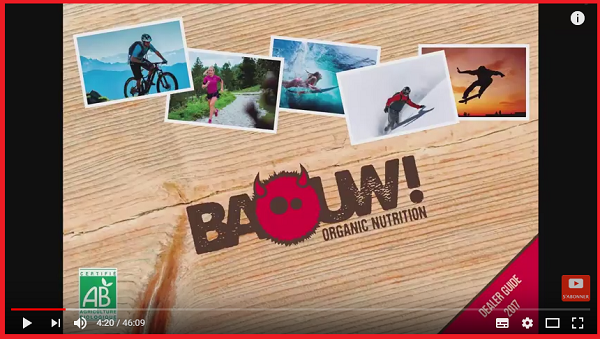 Vidéo barres energetiques pour sportif Baouw