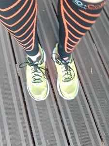 Voilà mes chaussures running Hoka Clifton pour ce test. © Testeurs-Outdoor