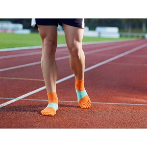 Voici des chaussettes running Knitido. © Knitido