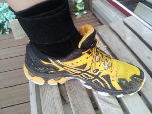 Zamst dans une chaussure de trail