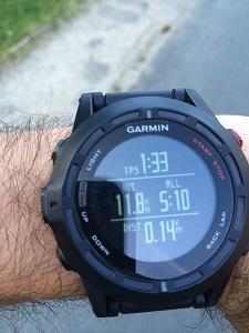 Vous pouvez voir ici un écran de la montre GPS Garmin Fenix 2 paramétré par Vincent. © Testeurs Outdoor