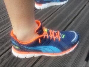 Vous pouvez voir de profil cette chaussure de sport Puma Faas 600. © Testeurs Outdoor
