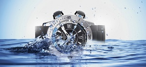 Il s'agit d'une montre de plongée Jaeger. © Jaeger