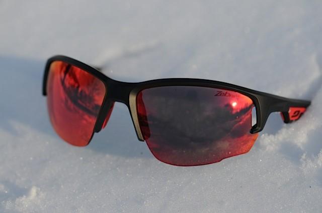 lunettes running Julbo Venturi Trail sur neige