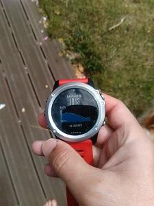 Voilà la fonction baromètre de cette montre GPS Fenix 3 © Testeurs Outdoor