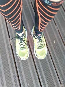 Voilà mes chaussures running Hoka Clifton pour ce test. © Testeurs-Outdoor