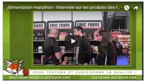 Alimentation Marathon avec les produits Favre