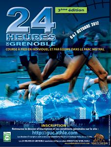 Ici l'affiche de la 3ème édition des 24 heures de Grenoble. © guc.athle.com