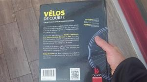 Et maintenant place au 4ème de couverture pour ce livre sur les vélos de course ! © Testeurs Outdoor