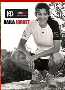 Naila Jornet, la soeur cadette de Kilian Jornet, portant une tenue Sport HG. © HG