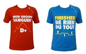 Vous pouvez voir ici deux autres modèles de tee shirt running Douzaleur. © Douzaleur