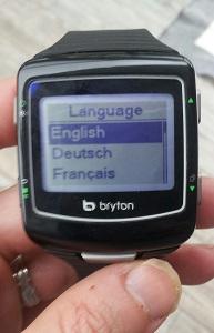 Vous pouvez voir les 5 boutons de cette montre GPS Bryton cardio 60. © Testeurs Outdoor