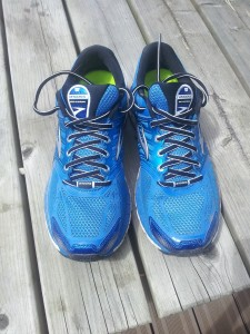 Brooks Glycerin 11 : La partie renforcée est la partie des chaussures plus foncée à l'avant