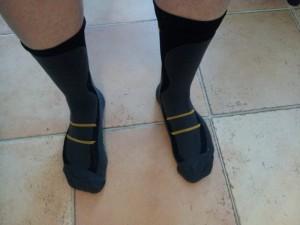 Chaussettes Jingo Treck : il ne me reste plus qu'à enfiler mes chaussures de course à pied.