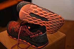 Vous pouvez voir ici la semelle de cette chaussure trail Saucony TR