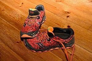 Voilà les chaussures trail saucony Nomad TR ayant servi pour ce test. © Testeurs Outdoor