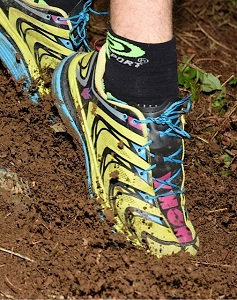 Voilà les chaussures Hoka SpeedGoat de Fabrice, notre testeur. © Crédit Photos : F. Van De Cauter