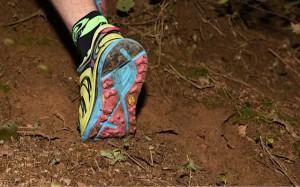 Chaussures Hoka SpeedGoat : la semelle extérieure est en Vibram. © Crédit Photos : F. Van De Cauter
