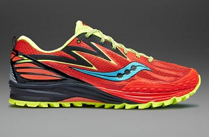 Ces chaussures trail Saucony Peregrine 5 seront à priviligier sur des compétions courtes. © Saucony