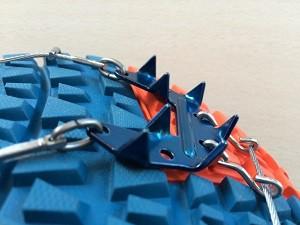 Les crampons sont impressionnants pour cette chaine chaussures trail Nortec. © Testeurs-Outdoor