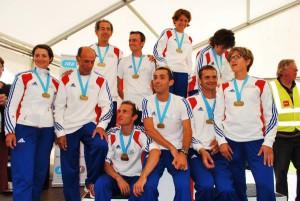 L'équipe de France et ses médailles ! © P.Clavery