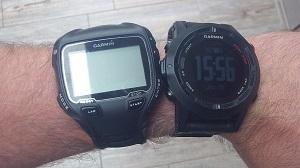 La montre GPS Garmin Fenix 2 à côté de ma 910 XT. © Testeurs-Outdoor