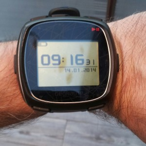 Le mode heure est simple mais efficace.