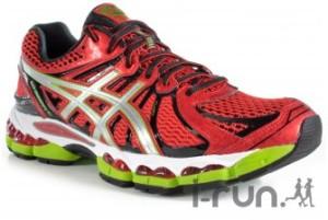 Asics Nimbus 15 : Ce modèle à la robe rouge flamboyante est disponible chez I-Run