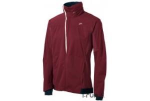 Noir ou bordeaux, voilà les deux seules couleurs disponibles pour cette veste running Brooks