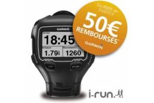 Ma montre 910 XT avec une promo en cours est disponible chez I-Run.