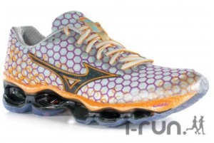 les coloris pour le modèle femme de cette chaussure Mizuno Wave Prophecy 3 sont agréables, non ? © I-Run