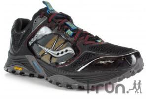 Test chaussures trail Saucony Xodus 4 : voiçi le le modèle noir.