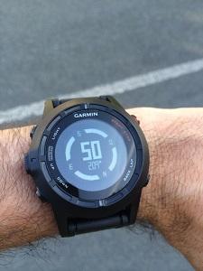 Montre GPS Garmin Fenix 2 : La voilà au poignet de Vincent. © Testeurs Outdoor