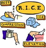 Le protocole RICE est bien résumé dans cette image. © plusdebad.com
