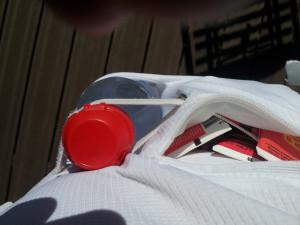 Mon dernier test : 8 gels dans la pochette imperméable !