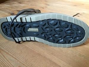 Test chaussures randonnées Merrell : voilà la semelle extérieure. © Testeurs Outdoor