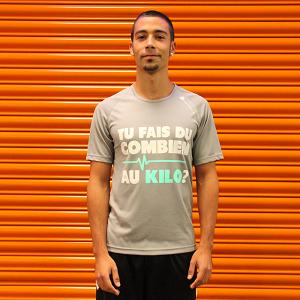 Un modèle tee shirt running Douzaleur pour hommes. © Douzaleur