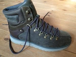 Test chaussures randonnées MERRELL : voilà la chaussure que Fabrice a testé. © Testeurs Outdoor