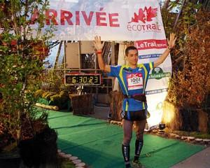 Voilà Thierry lors de sa victoire à l'Eco Trail de Paris