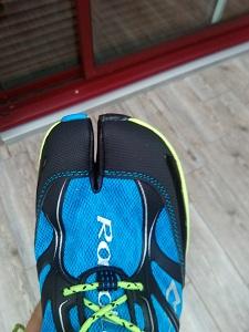 Cette toe-box n'est-elle pas étrange pour cette chaussure running Raidlight ? © Testeurs Outdoor