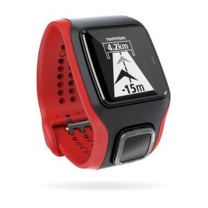 En rouge et noir pour cette montre GPS Tomtom cardio, avec le capteur Mio. © Tomtom